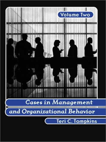 9780130894649: Cases in Management and Organizational Behavior, Vol. 2