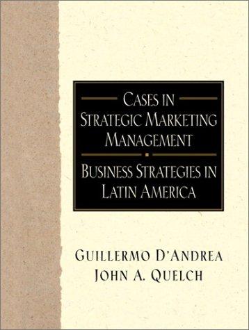 9780130894908: Cases in Strategic Marketing Management (Cases in Strategic Mktg Manage)