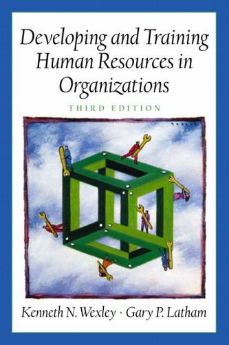 9780130894977: Developing and Training Human Resources in Organizations (Prenticee Hall Series in Human Resources) (3rd Edition)