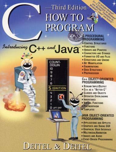 C How to Program (3rd Edition): Harvey M. Deitel,