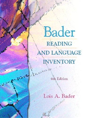 9780130895981: Bader Reading and Language Inventory