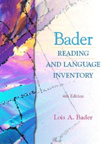 9780130895981: Bader Reading and Language Inventory