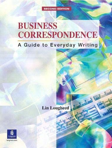 9780130897923: Business Correspondence: A Guide to Everyday Writing (2nd Edition)