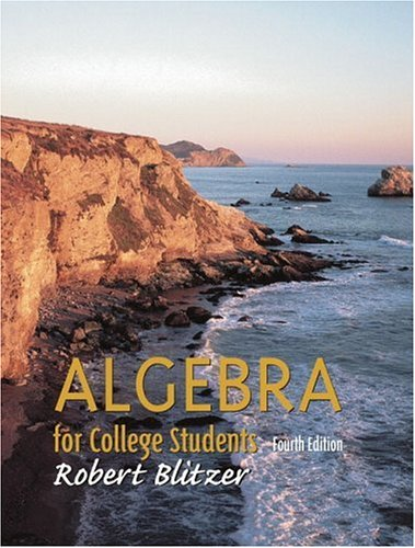 9780130902412: Algebra for College Students (4th Edition)