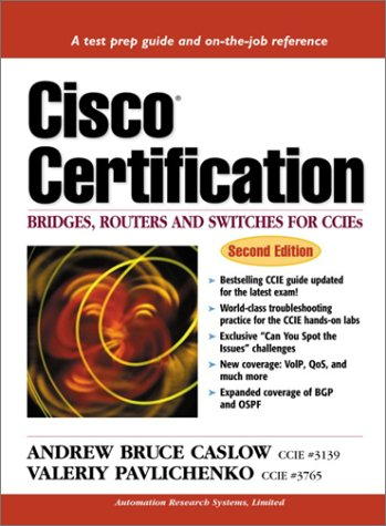 9780130903891: Cisco Certification: Bridges, Routers and Switches for CCIEs (Cisco Technology Series Cisco Technology)