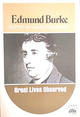 9780130905895: Edmund Burke (Great Lives Observed)