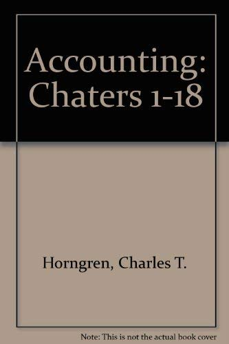 9780130906960: Accounting, Chapters 1-18