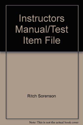 9780130908353: Instructors Manual/Test Item File