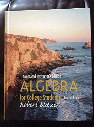 9780130909572: Algebra for College Students (Annotated Instructor's Edition)