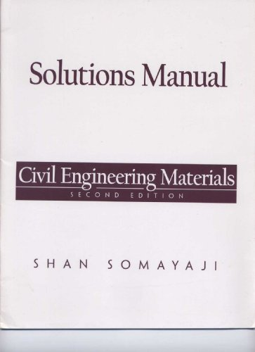 9780130910127: Solutions Manual - Civil Engineering Materials. Second Edition