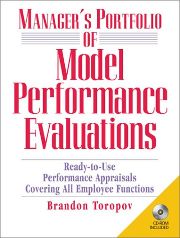 9780130910301: Manager's Portfolio of Model Performance Evaluations: Ready-to-Use Performance Appraisals Covering All Employee Functions