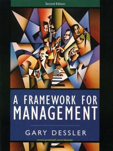 9780130910332: Framework for Management, A (2nd Edition)
