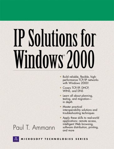 9780130911704: IP Solutions for Windows 2000 (Microsoft Technologies)