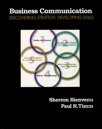 9780130913135: Business Communication: Discovering Strategy Developing Skills