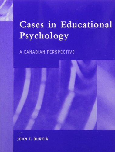 9780130914194: Cases in Educational Psychology: A Canadian Perspective