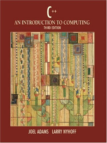 9780130914262: C++: An Introduction to Computing (3rd Edition)