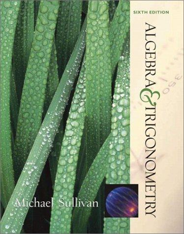 9780130914651: Algebra and Trigonometry (6th Edition)
