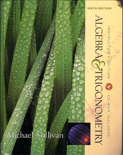9780130914675: Algebra&Trigonometry (Instructor's Edition with CD Rom)