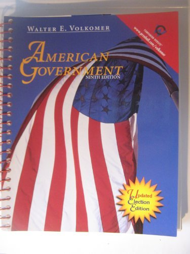 9780130914828: American Government: Updated Election Edition