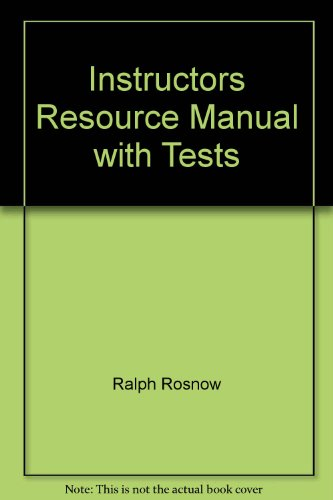 9780130915405: Instructors Resource Manual with Tests