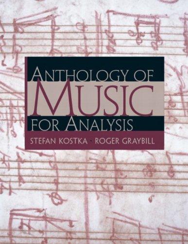 9780130915443: Anthology of Music for Analysis