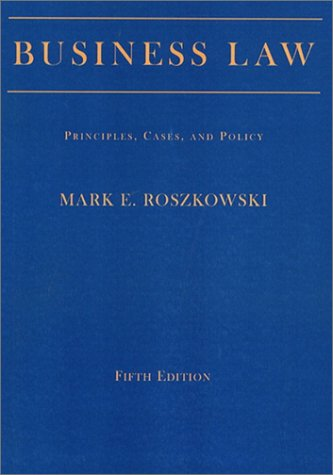 9780130915603: Business Law: Principles, Cases, and Policy, Fifth Edition