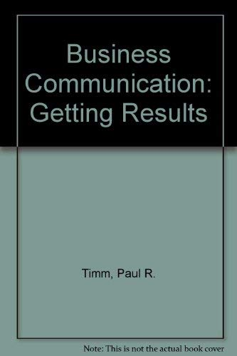 9780130917935: Business Communication: Getting Results