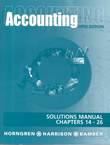 9780130919632: Solutions Manual, Chapters 12-26