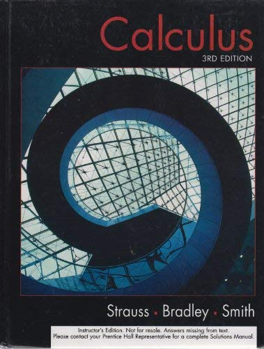 9780130920102: Calculus - Instructor's Edition - 3rd Edition