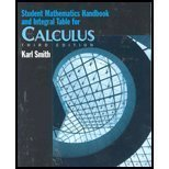 9780130920218: Calculus: Student Math Handbook And Integral Table