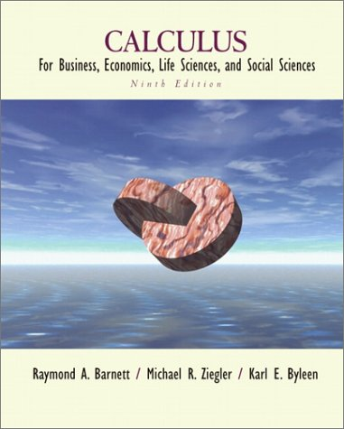9780130920539: Calculus for Business, Economics, Life Sciences, and Social Sciences (9th Edition)