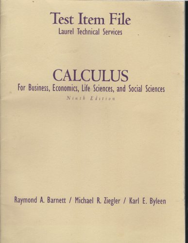 9780130921925: Calculus for Business Economics, Life Science and Social Sciences