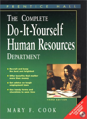9780130922199: Complete Do It Yourself Human Resources Department with CDROM