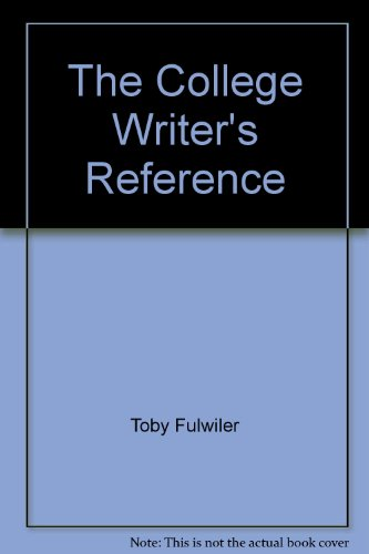 9780130922335: The College Writer's Reference