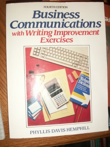 9780130922557: Business Communications With Writing Improvement Exercises