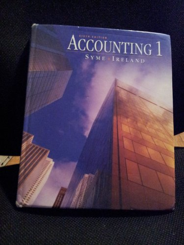 9780130923325: Accounting 1, 6th Edition