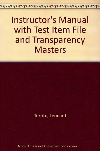 9780130923387: Instructor's Manual with Test Item File and Transparency Masters