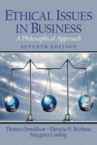 9780130923875: Ethical Issues in Business: A Philosophical Approach