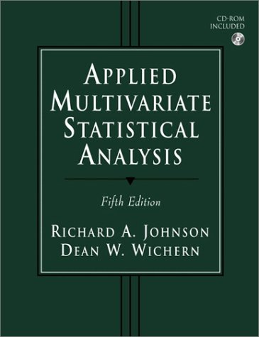 Applied Multivariate Statistical Analysis (5th Edition): Wichern, Dean W.,