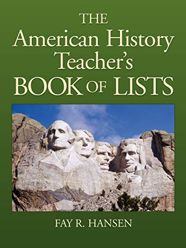 9780130925725: American History Teacher's Book of Lists