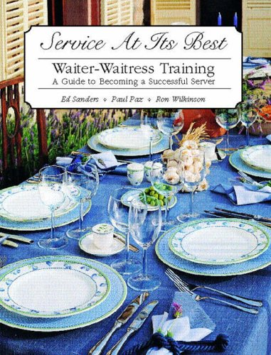 9780130926265: Service at it's Best: Waiter-Waitress Training