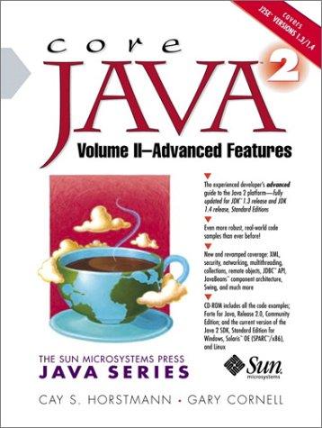 9780130927385: Core Java 2: Advanced Features v. 2