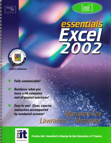 9780130927637: Essentials: Excel 2002 (Level 3)
