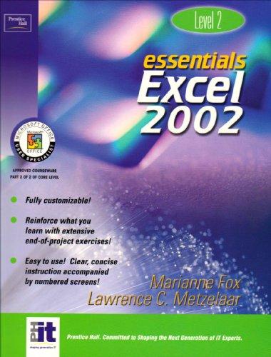 9780130927651: Essentials: Excel 2002 Level 2