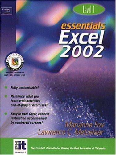 9780130927675: Essentials: Excel 2002 Level 1 (Essentials Series: Microsoft Office XP)