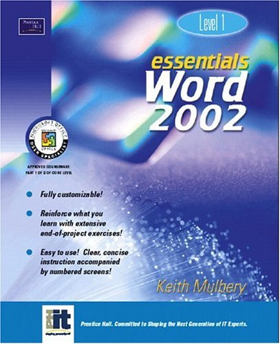 9780130927958: Essentials: Word 2002 Level 1 (Essentials Series: Microsoft Office XP)