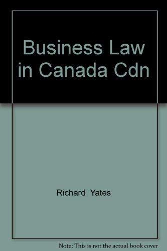 9780130930682: Business Law in Canada Cdn