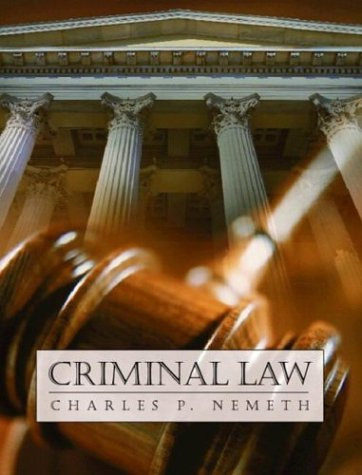 9780130930958: Criminal Law