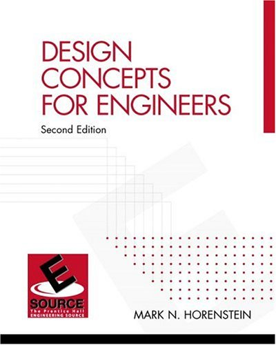 9780130934307: Design Concepts for Engineers (2nd Edition)