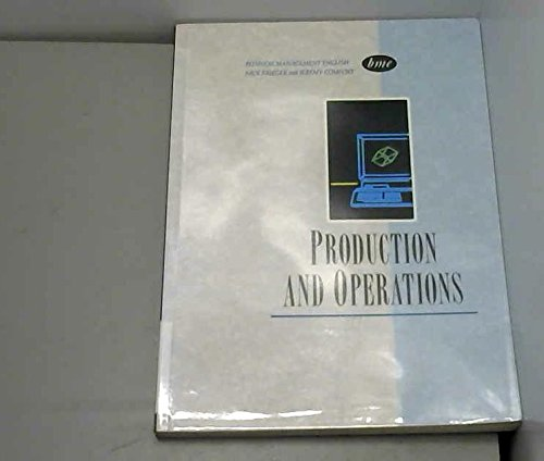 9780130934772: Business Management English: Production and Operations (Business management English series)